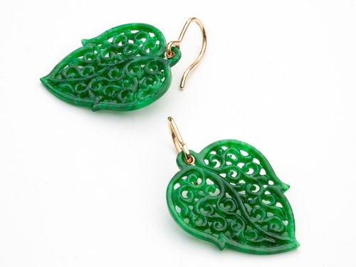 Ohrringe aus Jade von Zurbuchen Schmuck